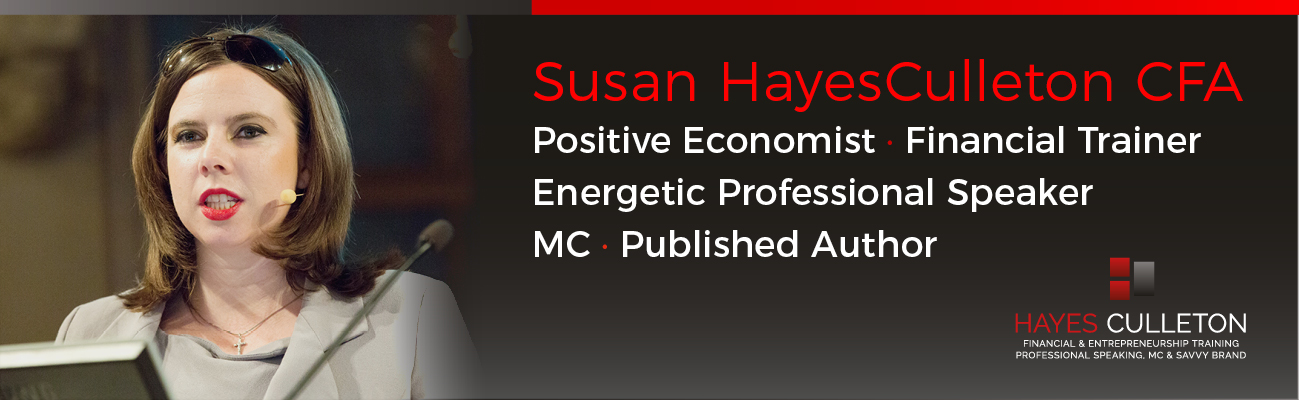 Susan HayesCulleton CFA Professional Speaker, MC, Financial Training