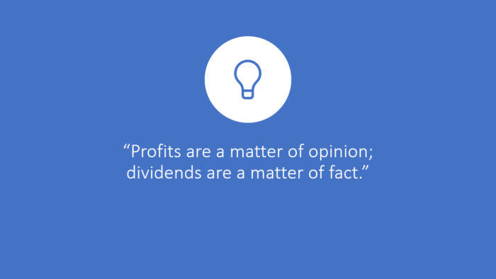 VV FFF Profits are a matter of opinion